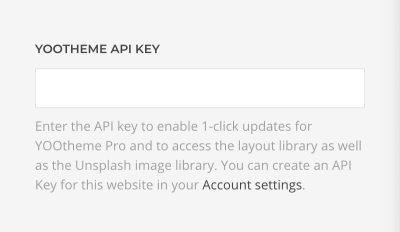 Enter API key