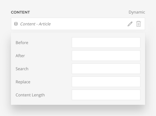 Content length option