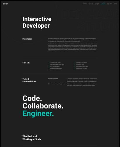 Interactive Developer Layout