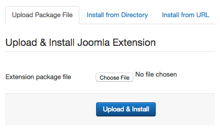 Install a Joomla extension
