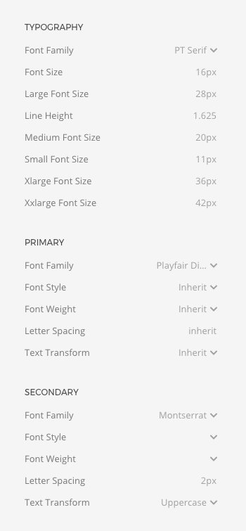 Global font options