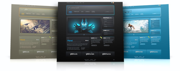 planet template yootheme
