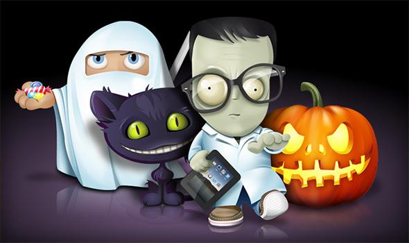 free halloween icon set trick or treat - Free Halloween Pictures