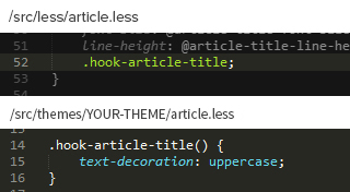 Use hooks to create new declarations
