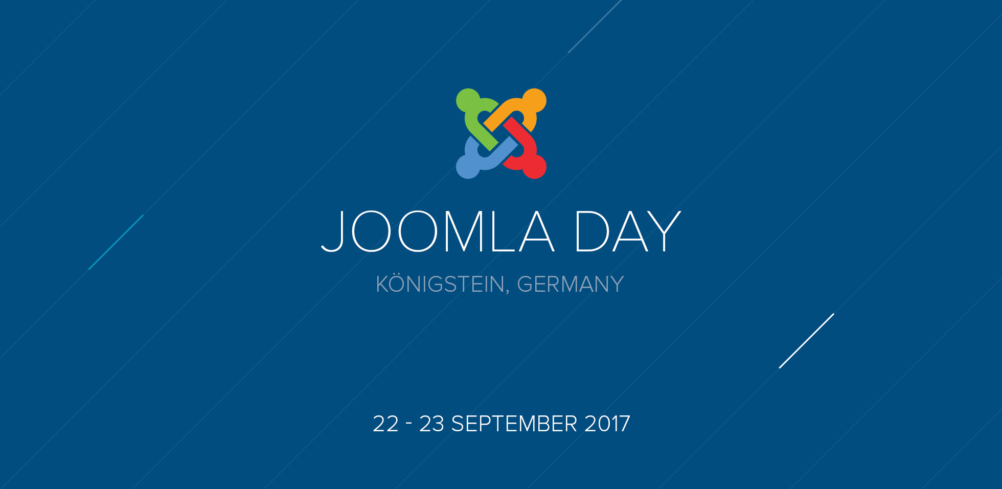 JoomlaDay Germany 2017 – Giving talks and being a sponsor