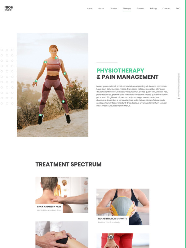 Physiotherapy Layout