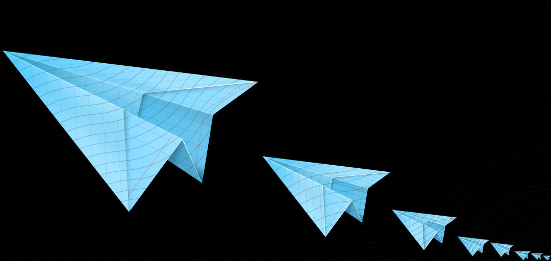 Paperplane Blue Icon