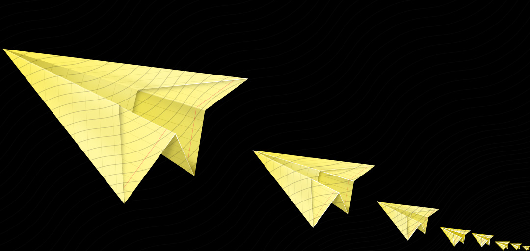 Paperplane Yellow Icon