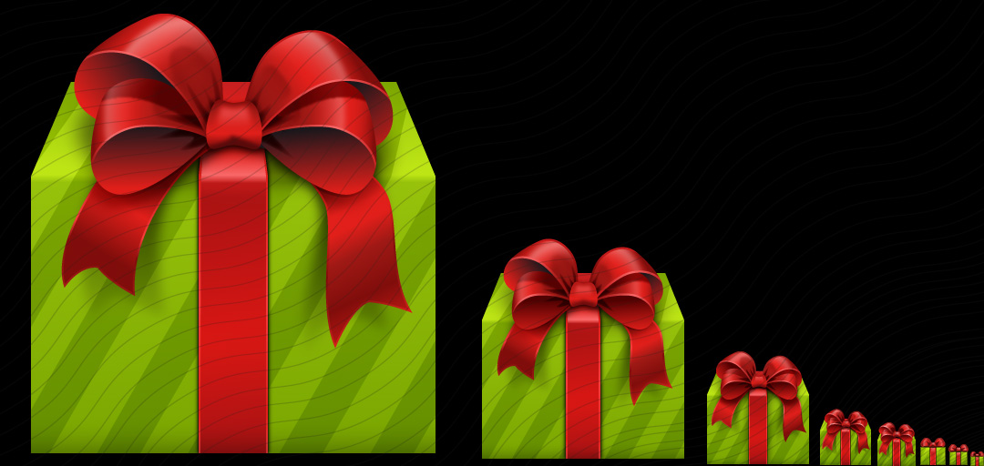 Gift Green Red Icon