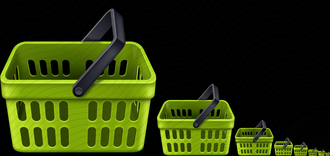 Shopping Basket Green Empty Icon