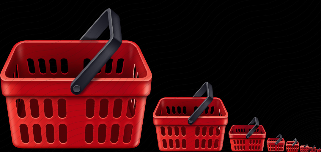 Shopping Basket Red Empty Icon