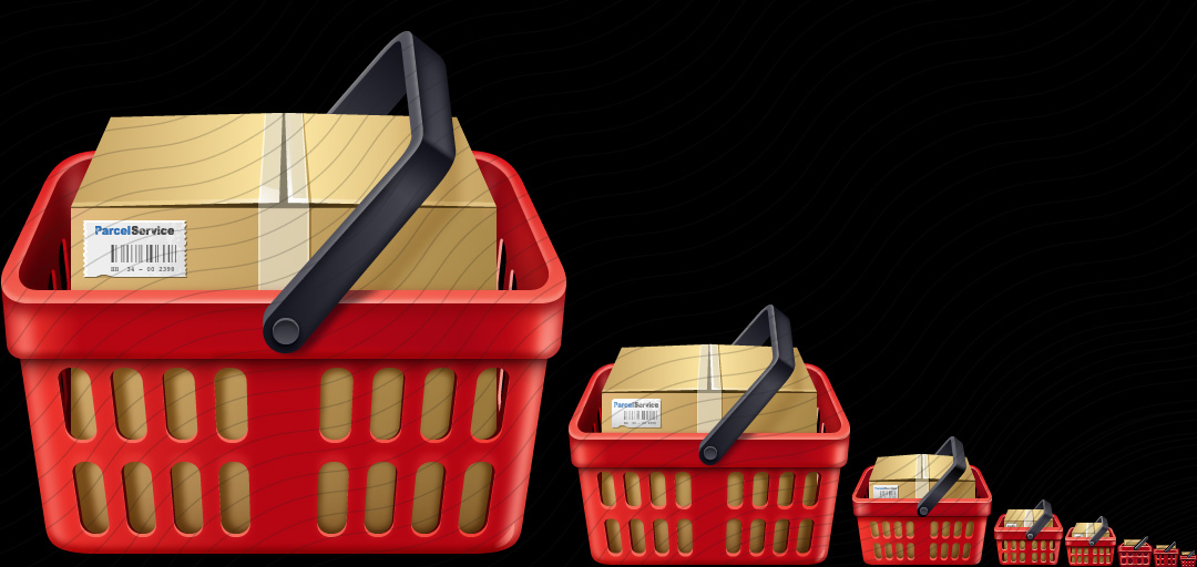 Shopping Basket Red Full Icon