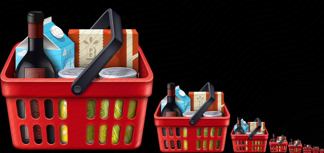 Shopping Basket Red Goods Icon