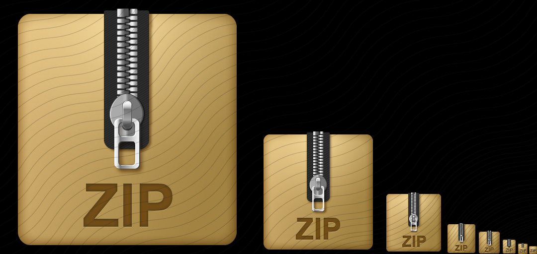 Archive Cardboard Zip Icon